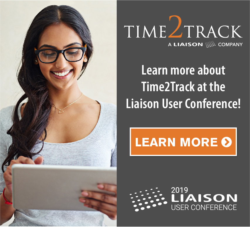 Learn more about Time2Track at the Liaison User Conference